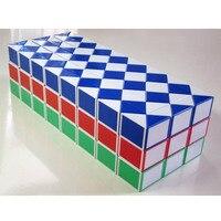Color Random 96 Blocks Magic Snake Ruler Cube Spring Puzzle Standard Version Children Education Imagination Game