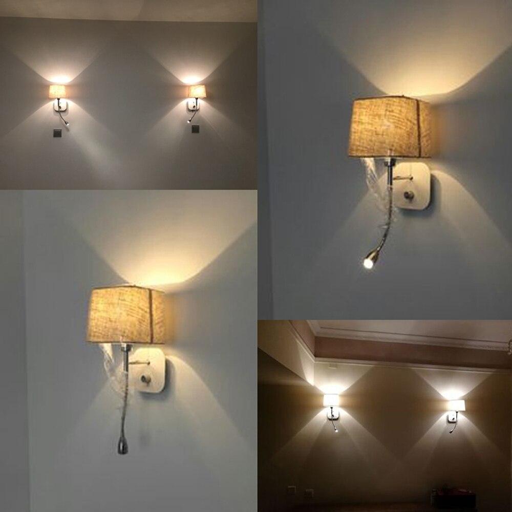 Zidna svjetiljka za spavaću sobu s prekidačem LED Zidno svjetlo u - Unutarnja rasvjeta - Foto 2