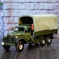 Бесплатная доставка Металл армии грузовиков Модель вечерние украшения