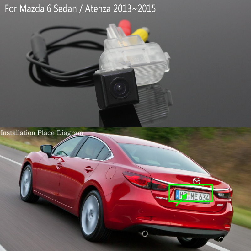 Lyudmila For Mazda 6 Mazda6 Sedan / Atenza GJ 2013~2017 Car Reversing Back up Camera / Rear View Camera / HD CCD Night Vision for mazda 6 mazda6 atenza 2014 2015 ccd car backup parking camera intelligent tracks dynamic guidance rear view camera