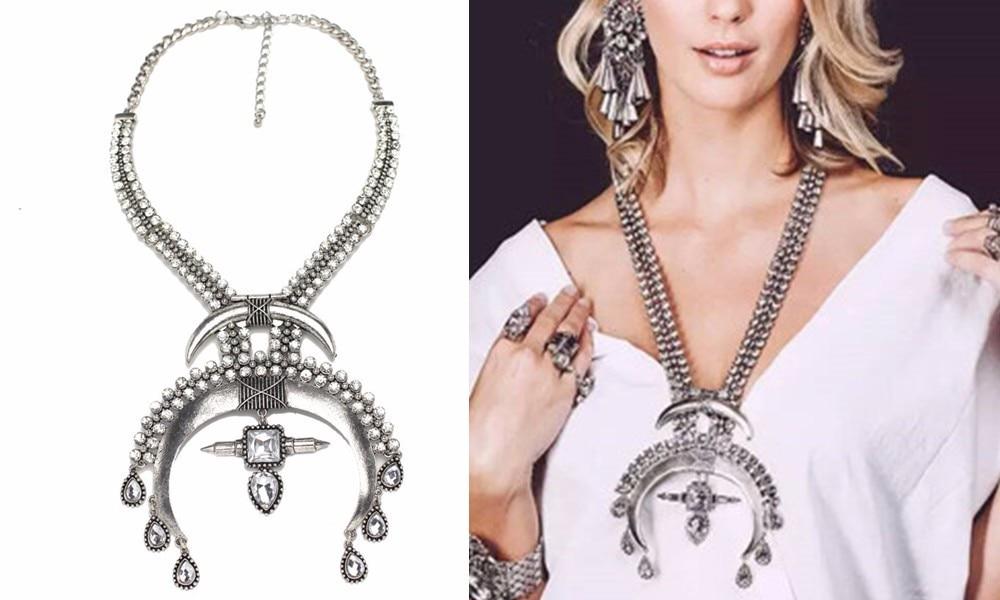 Ztech 18 Women Necklaces & Pendants Vintage Crystal Maxi Choker Statement Collier Femme Boho Big Fashion Jewellery Wholesale 6