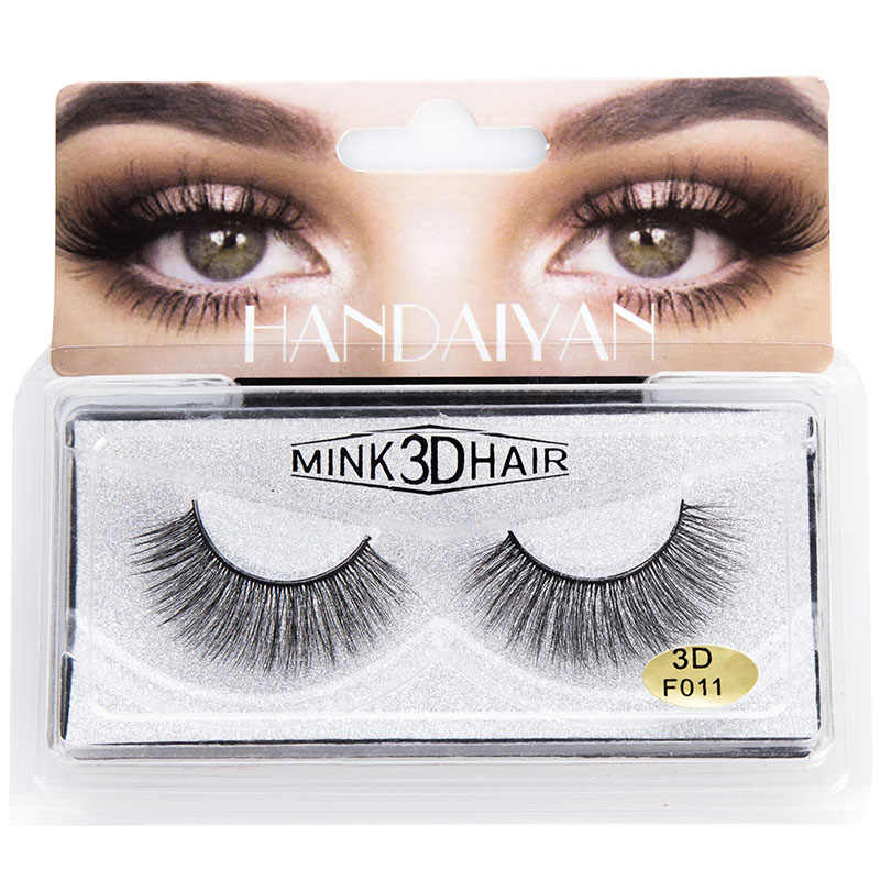 Hot 1 Pair Natural False Eyelashes Fake Long Makeup 3D Mink Lashes Extension Eyelashes wyt77
