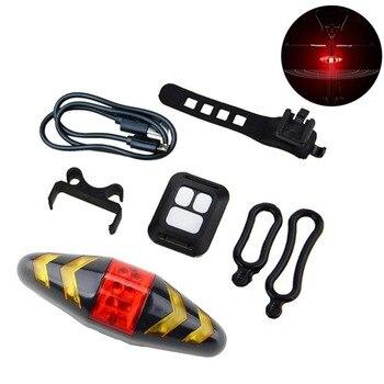 Открытый велосипедный фонарь Беспроводной удаленного Управление горный велосипед 2-в-1 Turn сигнальная задняя подсветка USB для верховой езды ...
