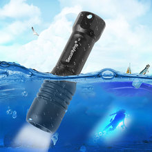 SecurityIng LED Flashlight Scuba Diving Photography Video Lamp 150M XM-L2(U4) LED Underwater Torch with 360 Degrees Rotation