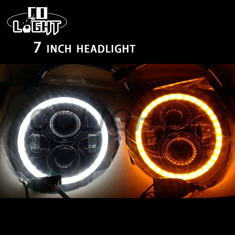 CO LIGHT 7Inch Led External Light 50W 6000K 30W H4 H13 Hi Lo Beam Auto Car Lights Waterproof for Jeep Wrangler Jk Tj 12V 24V