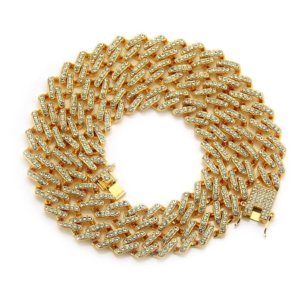 Hommes Hip Hop glacé Bling plein Pave strass chaîne collier mode CZ Miami chaînes cubaines colliers Hiphop pour unisexe bijoux