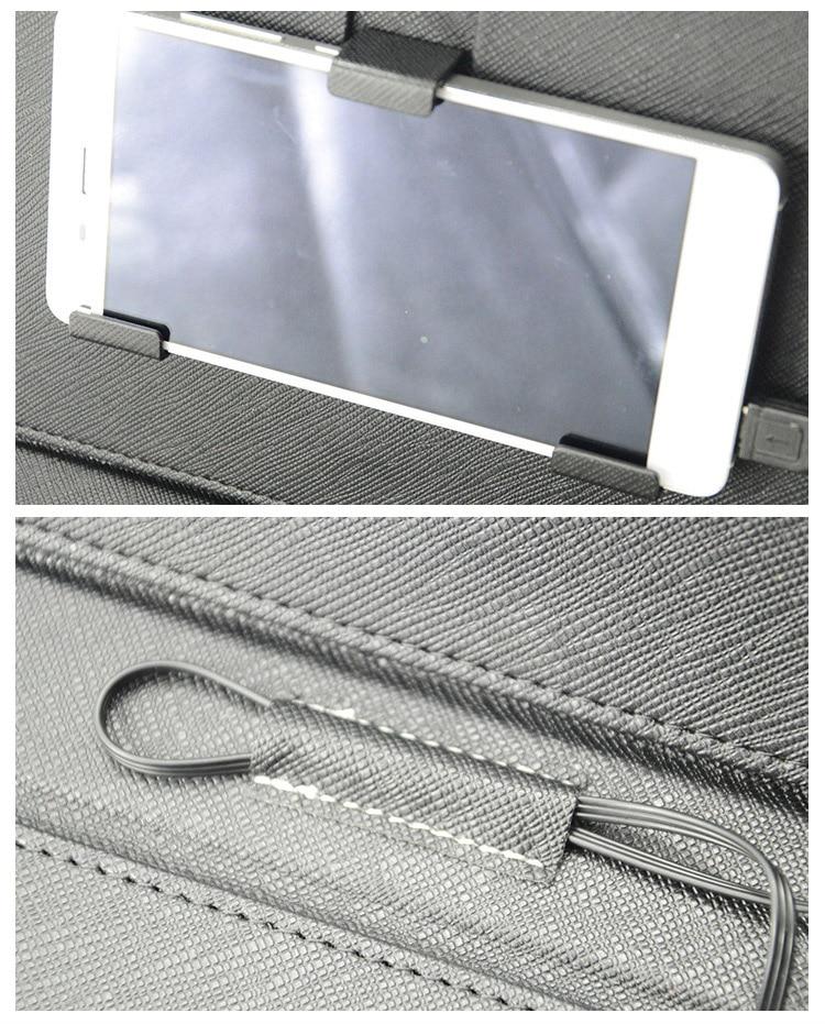 USB-tastatur læder Flip Cover Case til de fleste Android-system - Mobiltelefon tilbehør og reparation dele - Foto 3