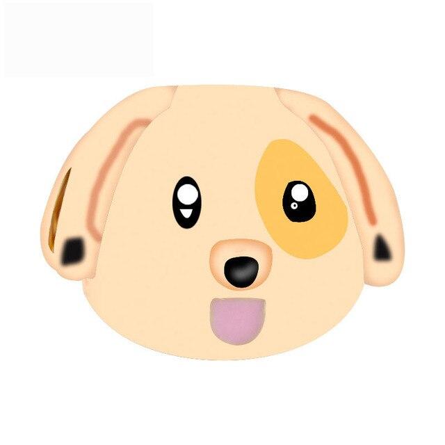 Free Shipping Christmas Gift 1pc Gold Dog Sticking His Tongue Emoji Bead  Charms Fit European Pandora
