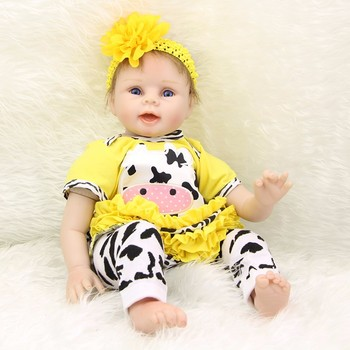 Boneca reborn menina original soft silicone reborn baby dolls toys for children gift 22inch 55cm bebe realista reborn