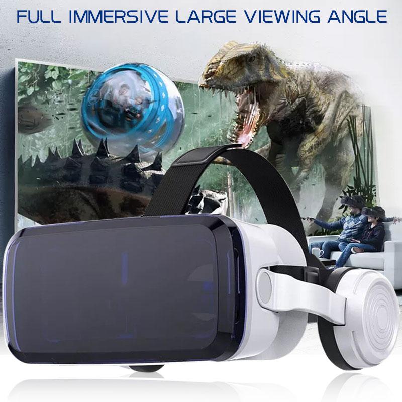 New VR Virtual Reality Glasses VR Glasses 3D Game Helmet Smart with Wireless Bluetooth HiFi Headphone