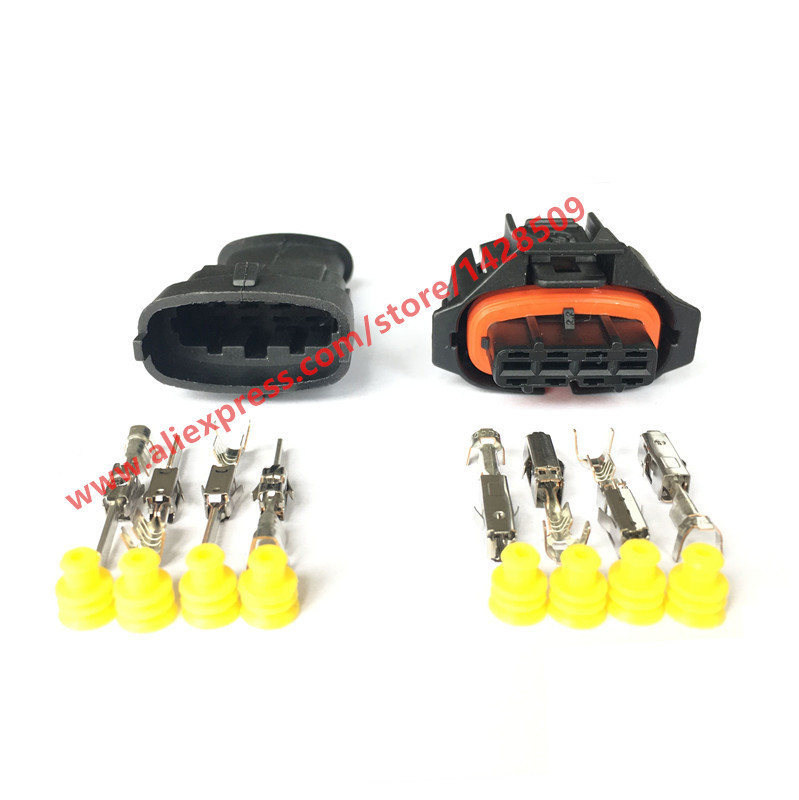 20 Set 4 Pin 1 928 403 736 Female Male 3 5mm Auto Sensor Plug Electrical