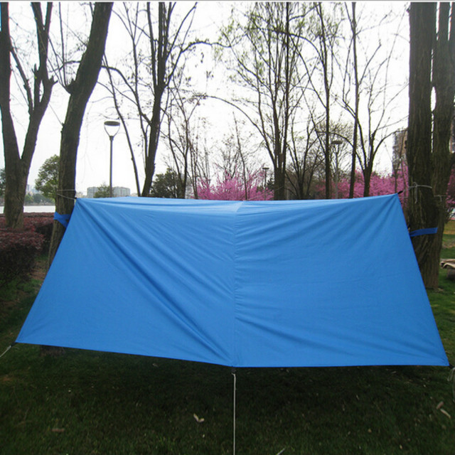 Outdoor C&ing Picnic Tent Tarp Canopy Awnings Shelter Rain Cover Ground Sheet Blue 3M*3M & Outdoor Camping Picnic Tent Tarp Canopy Awnings Shelter Rain Cover ...
