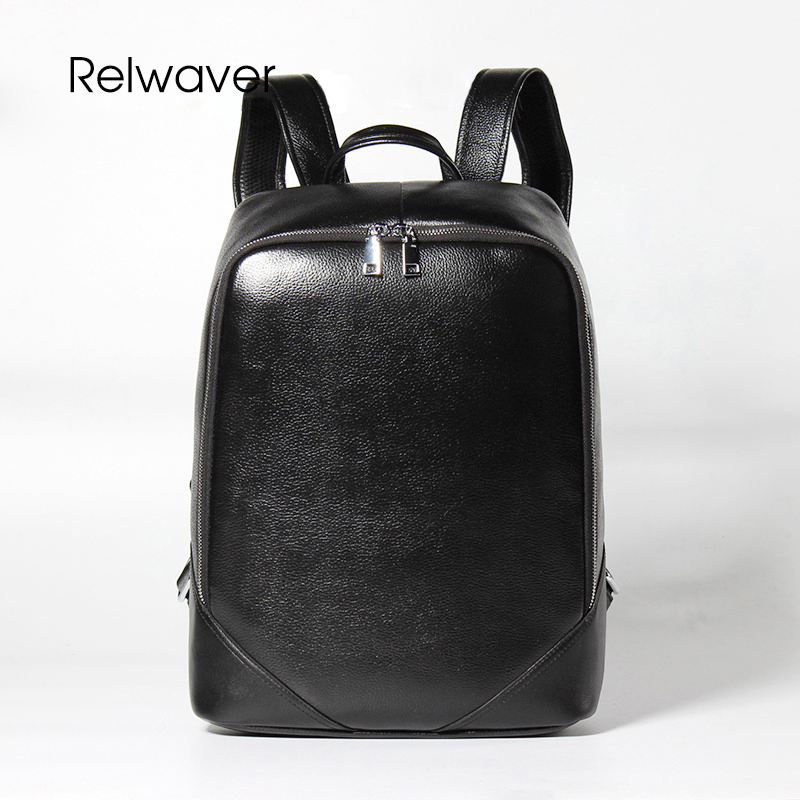 Relwaver genuine leather backpack men black big cowhide casual laptop softback school bags backpacks travel bag men bag backpack marrant genuine leather backpacks men shoulder bag men bag leather laptop bag 15 inch men s luggage travel bags school backpack