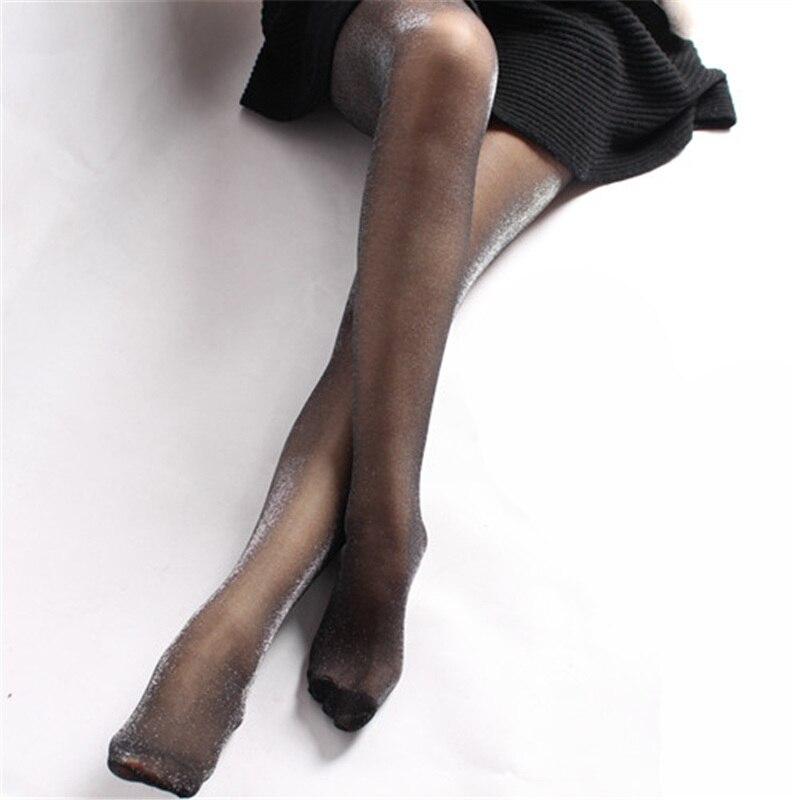3e9c4c26e Hot sale Da Moda Mulheres meia calça meias de fio de prata Sparkling  brilhante corpo sexy lady verão meias finas meias de seda collants bonito  em Meias de ...