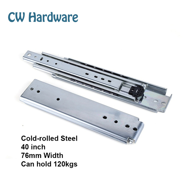 40 inch 4pcs 1016mm Heavy Industry Drawer Slides, Two Pairs Ball Bearing Slides, Slide Accessories 401