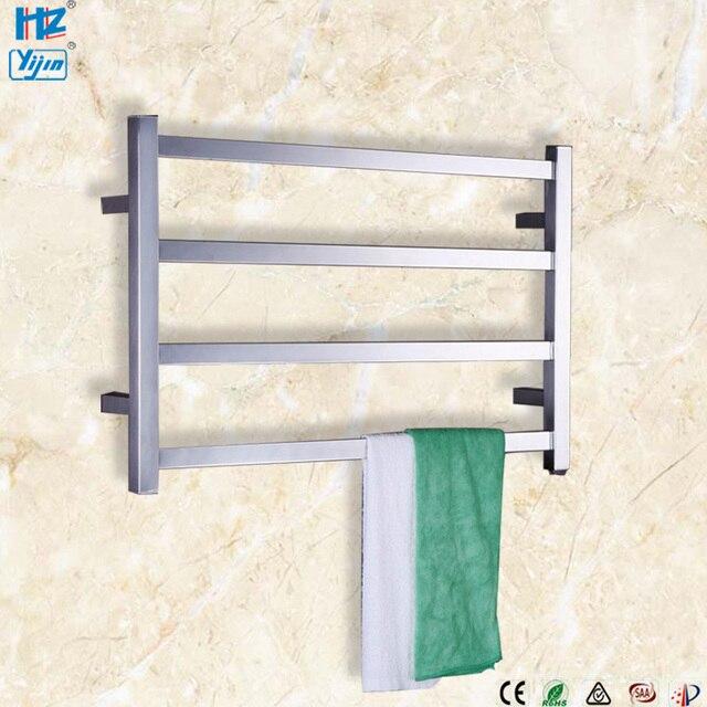 Porte serviettes électrique en acier inoxydable