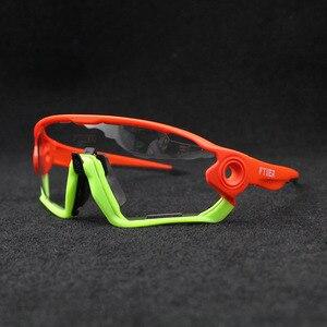 Image 4 - 2019 renkli fotokromik bisiklet gözlük UV400 erkek MTB bisiklet bisiklet sürme gözlük TR90 açık spor polarize güneş gözlüğü