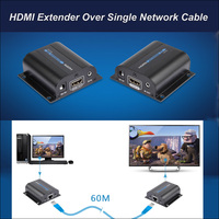New HDMI Extender with IR Via Cat6 / 5e up to 60m full HD 1080P Transmitter & Receiver with Power Adapter For HDTV DVD