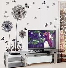 Contracted warm bed wall stick the bedroom decorates stickers, stickers dandelion girl student dormitory