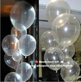 10inch 100pcs/lot clear transparent balloons/Round/pearl/party balloon wholesale/ball/ballon/wedding decoration