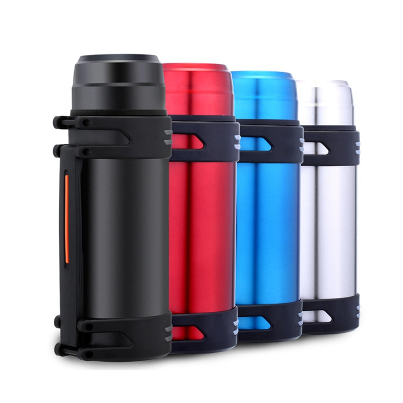 2L Large Capacity Portable Thermos Bottle Stainless Steel Vacuum Thermos Travel Coffee Mugs Thermal Vacuum Water Bottle