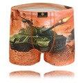 Hombre Calzoncillos de Algodón Puro Masculino Boxeadores Underwears de Los Hombres 3D Impresión Tank