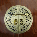 140mm 240mm Copper cabinet handle Chinese antique furniture Wardrobe bookcase Round door handle