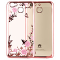 Luxury Secret Garden Flowers TPU plating Diamond Soft rubber Back Cover Case For Huawei Enjoy 5 / Y6 Pro (5.0') Phone Back Cover