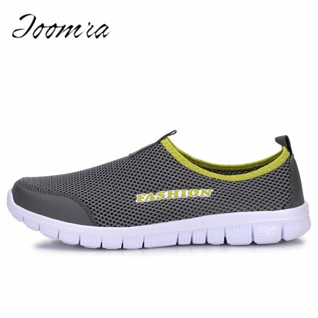 Модная Летняя обувь мужская повседневная Air обувь из сетчатого материала больших размеров 38-46 легкая дышащая скольжения на плоской подошве Chaussure Homme