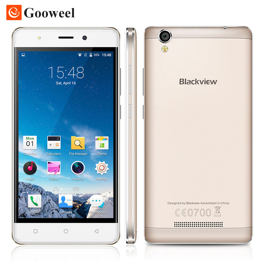 Free case Blackview A8 smartphone MTK6580 5 0 inch IPS HD Quad Core Android 5 1