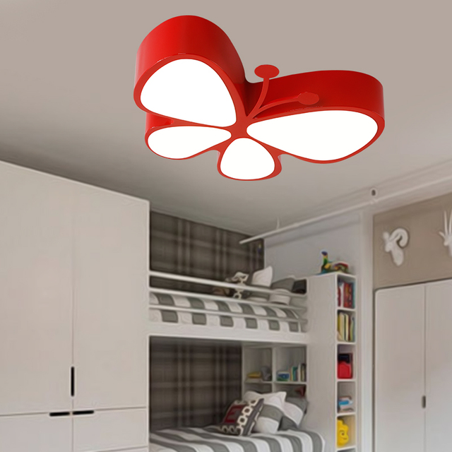 Niños lámpara LED lámparas de techo para niños mariposa LED del ...