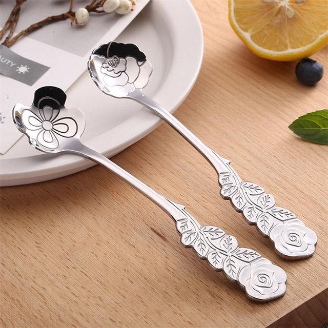 Flower Shaped Tea Spoon