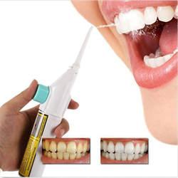 Портативный мощность вышивка крестом нить зубная водная струя шнуры зуб палочки подтяжки без батареи зубные очищающий, отбеливающий зубы