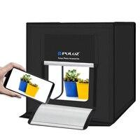 LED Lightbox 40x40cm Mini Photo Studio Box Phone Photography Room With LED Panel US Plug Dimmable Bright LED Light Tent