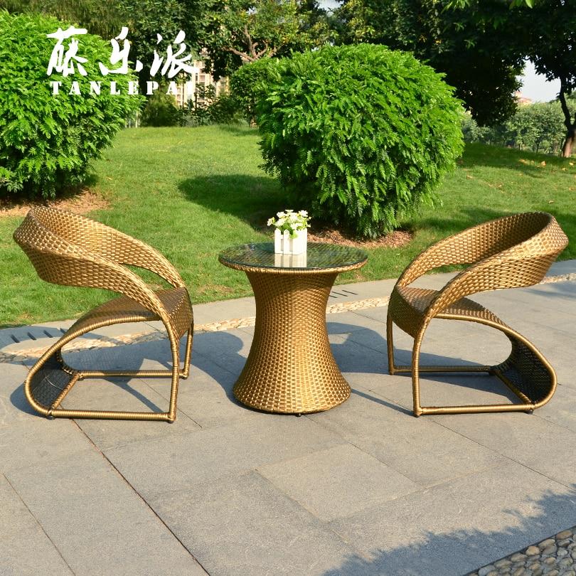 Casual Rattan Coffee Table: Small Coffee Table Rattan Chair Three Piece Living Room