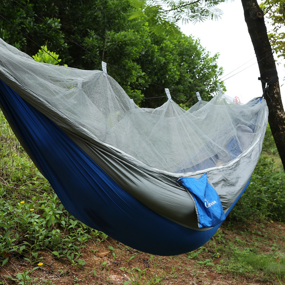 Portable Hammock Folded Into Pouch Mosquito Net Hammock Tent Hanging Bed For Travel Kits Camping Garden Swing Hammocks