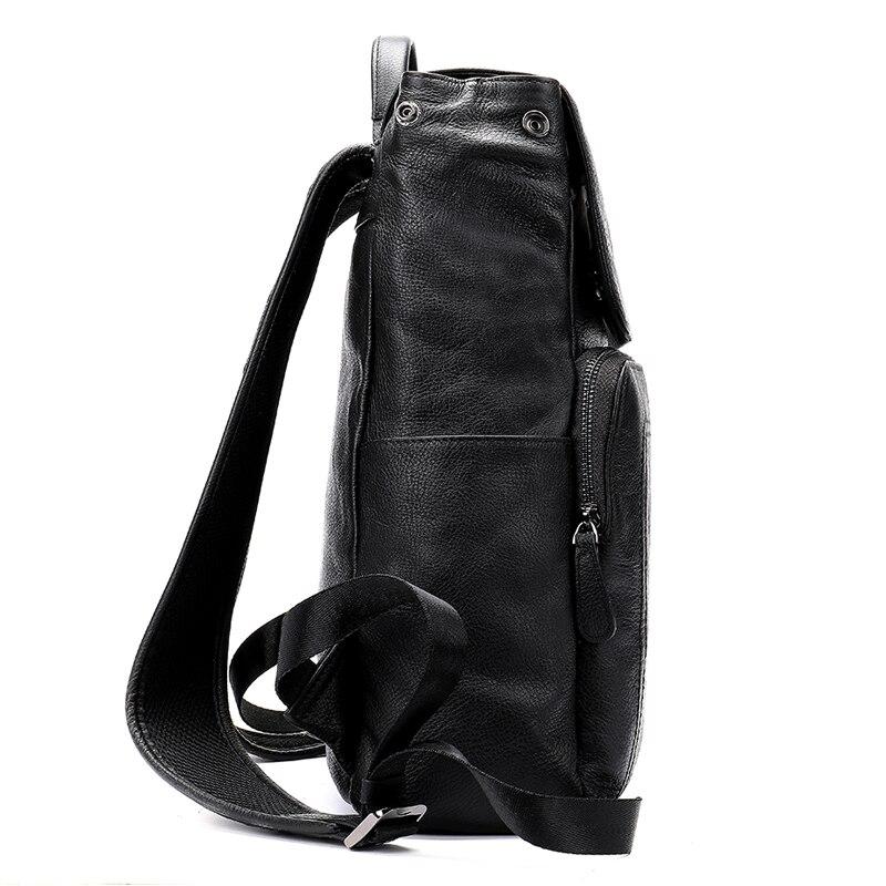 MVA мужской рюкзак из натуральной кожи, винтажные дорожные сумки, мужская деловая сумка для ноутбука, мужская сумка из воловьей кожи, черные сумки на плечо 6115 - 4