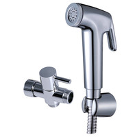 Full Bathroom 7/8Brass T adapter Handheld Bidet Toilet Shattaf set
