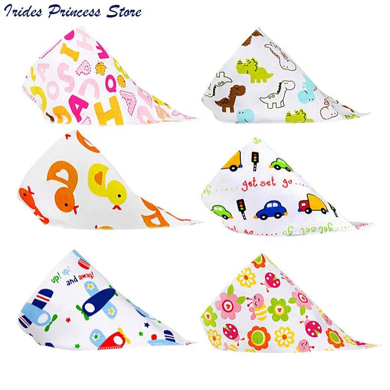 Newborn Baby Cotton Bib Infant Saliva Towels Baby Accessories Bibs Newborn Wear Cartoon Head Scarf 14 Colors