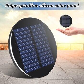 CLAITE Solar Power 6V 2W 0.35A 80MM DIY Mini Polycrystalline Silicon Solar Cell Module Circle Round Solar Panel Epoxy Board 2