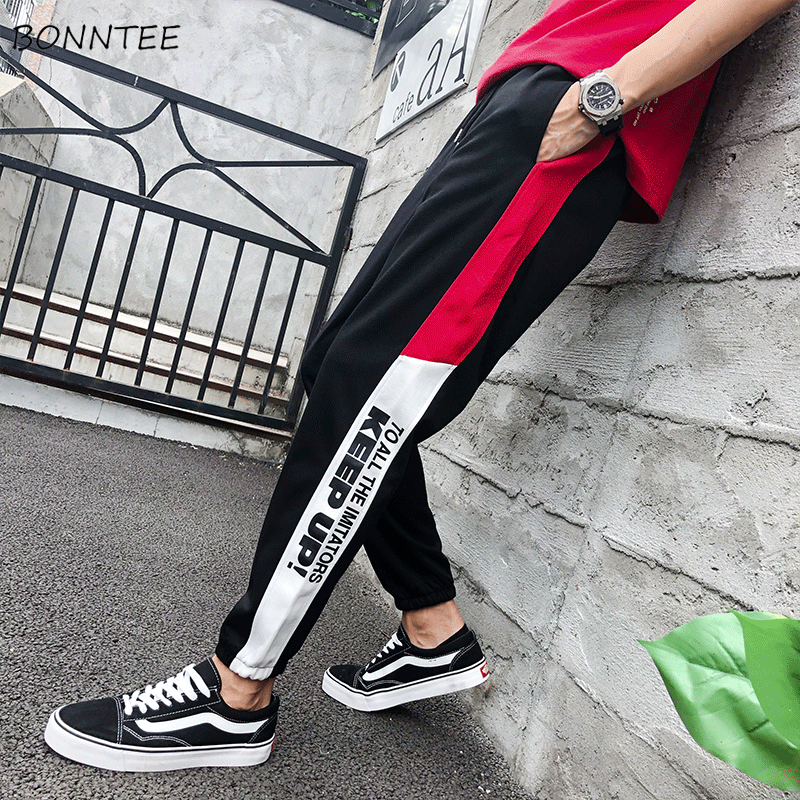 Pants Men Trousers Harem Korean-Style Various-Color All-Match Ulzzang Ankle-Length Mid