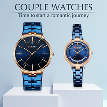 CURREN Top Brand Luxury Women Men Couple Watch Waterproof St