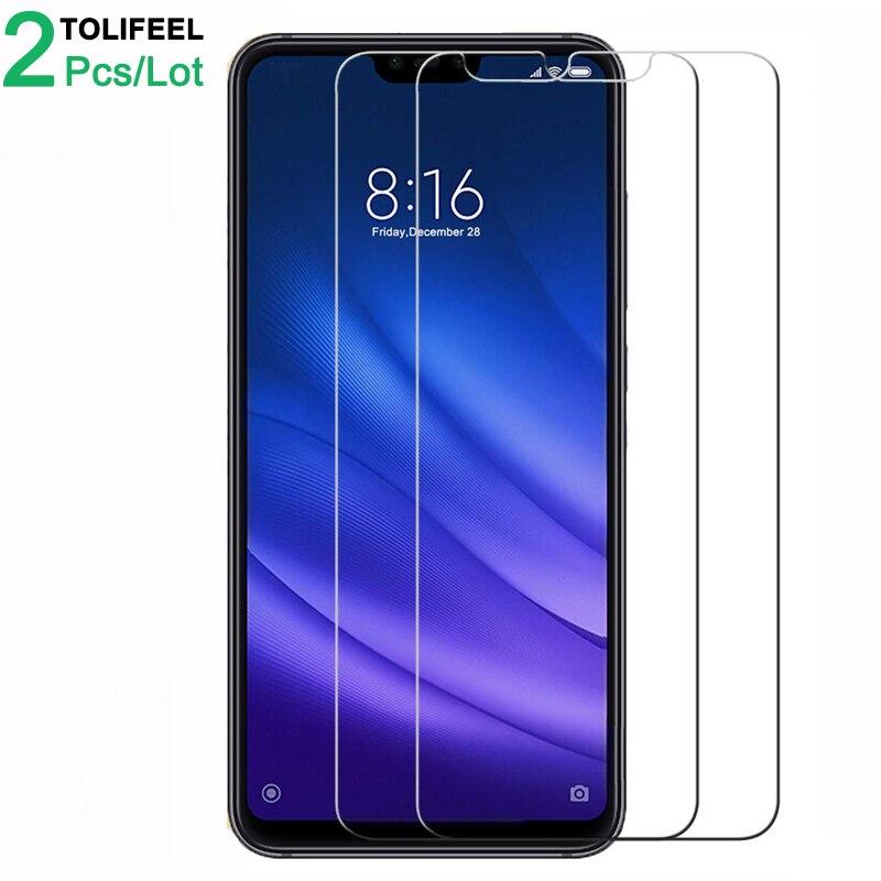 2Pcs Tempered Glass For Xiaomi MI 8 Lite Screen Protector 9H 2.5D Phone On Protective Glass For Xiaomi MI8 Lite Glass