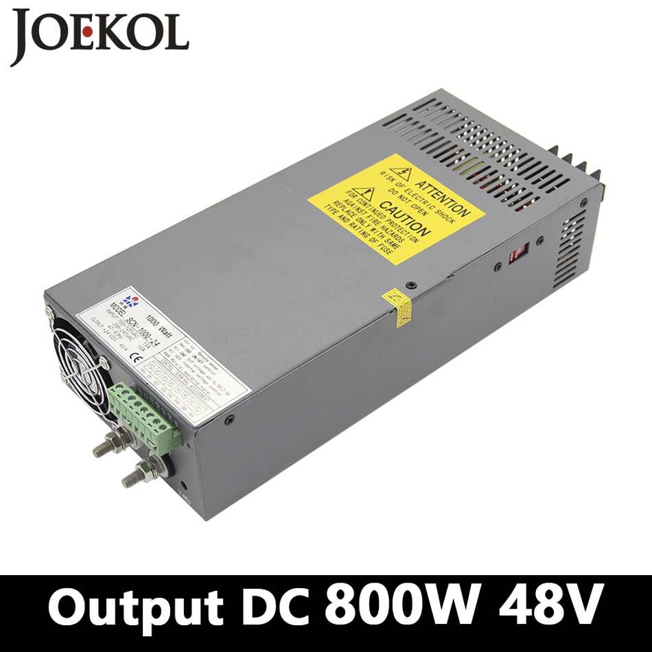 High-power Switching Power Supply 800W 48v 16A,Single Output Industrial-grade Power Supply,AC110V/220V Transformer To DC 48V