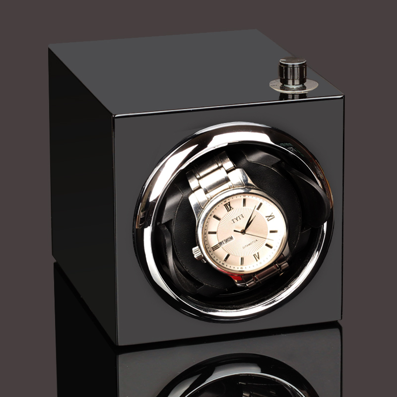 Watch Winder ,LT Wooden Automatic Rotation 1+0 A  Storage Case Display Box (black ) 2019 New Style