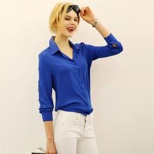 Blusas femininas элегантные рабочая формальные блузка шифон твердые офис рубашка топ