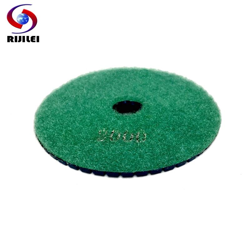 RIJILEI 10PCS 4inch drėgno deimantinio poliravimo pagalvėlės 100mm - Elektriniai įrankiai - Nuotrauka 3