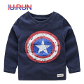 Baby Boys Shirts Spring Casual Clothes Tops Kids Cotton Clothing Autumn Long Sleeve Cartoon Print T-Shirt Children Tees