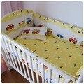 Promoción! 6 unids cama bebé ropa de cama para niños ropa interior cunas para el bebé cama ( bumpers + hojas + almohada cubre )