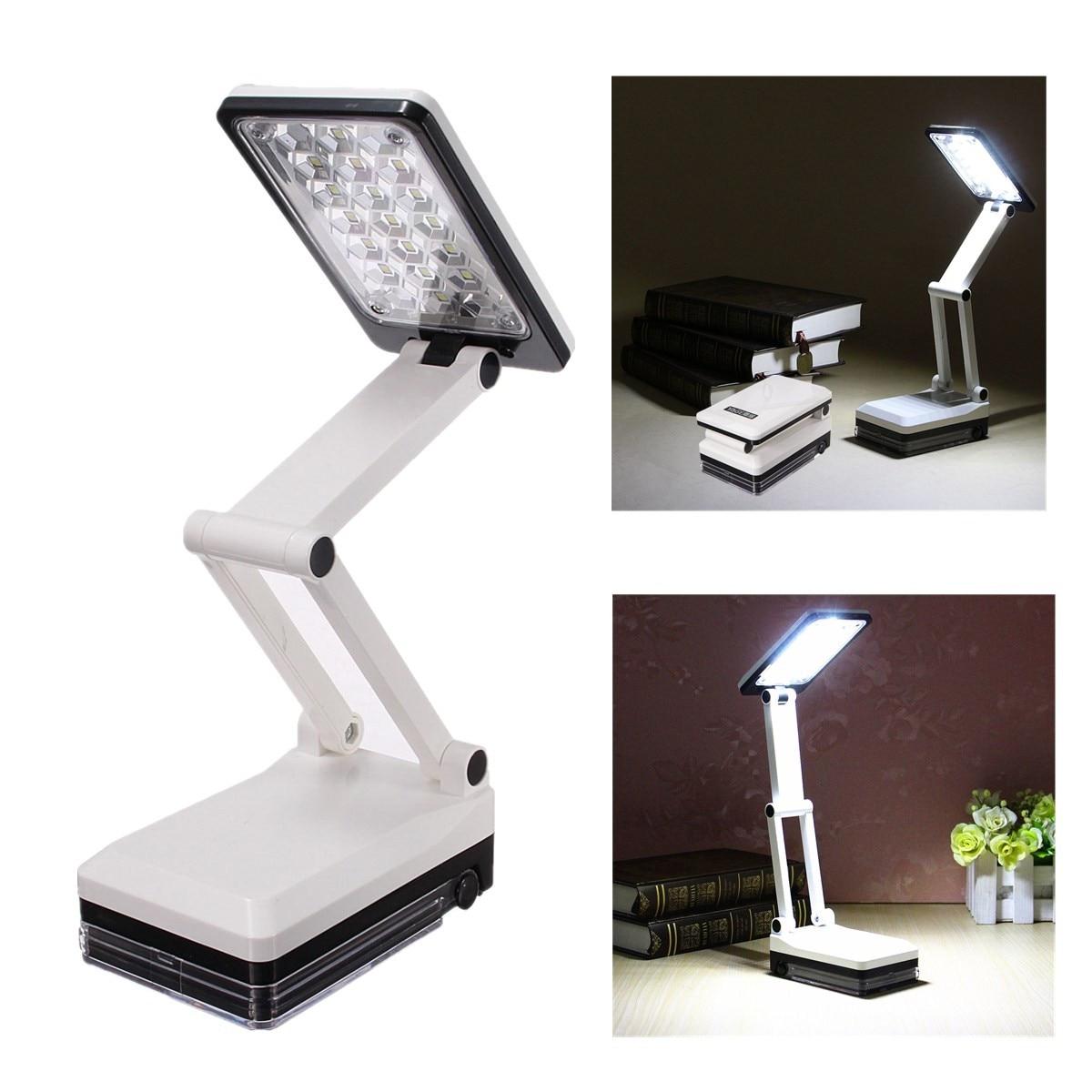 Jiguoor AC 220 V Portable US Plug Alimenté Rechargeable LED Lampe de Bureau Moderne Pliable Sans Fil Gradateur Table de Lecture Lampe Lumière